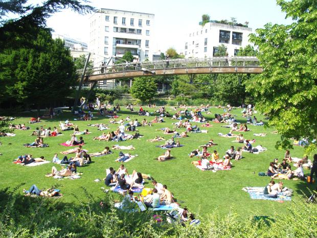 Le jardin de Reuilly dans la Promenade Plantée à Paris