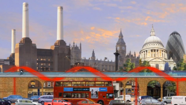 Sky-Cycle-Elevated-Bicycle-Lane-Exterior-Architecture-London-Commuter-Skyline