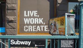 """Campagne de pub et slogan de la marque de vêtements """"Brooklyn Indutries"""""""
