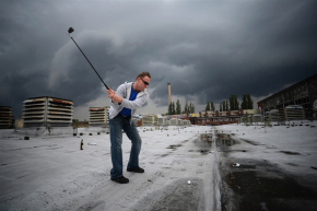 Le Street Golf à Berlin @AFP